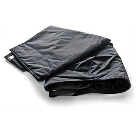 IT FITS Scootmobiel Schootskleed Zwart met voetstuk (gevoerd)
