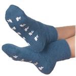 Peter Angora Warmte Sokken Met Anti-Slip Blauw - Bedsokken