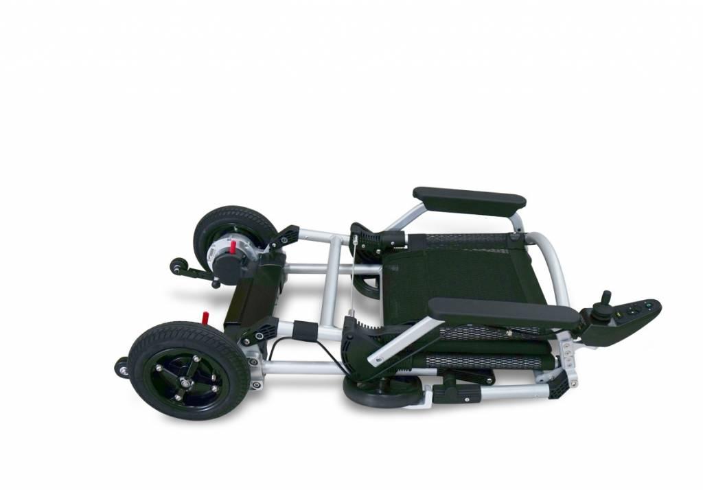 Joyrider opvouwbare elektrische rolstoel opgevouwen