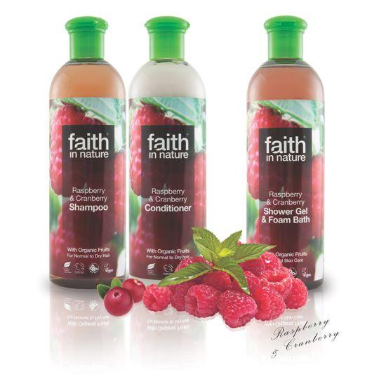Faith in Nature Raspberry & Cranberry Bath & Shower Gel