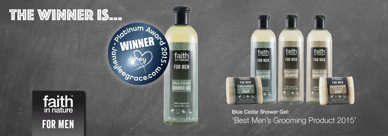 Blue Cedar Shower Gel wint 'Best Men's Grooming Product' 2015