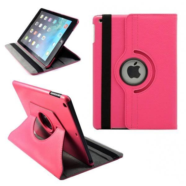 Apple iPad Air Lederen 360° Draaibare Case met Stand Roze