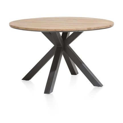 Industriële eiken ronde tafels   Robuust