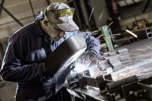 Lassen van frames industriele tafels