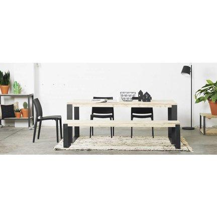 Eiken tafels | robuust uitgevoerd | massief eiken blad