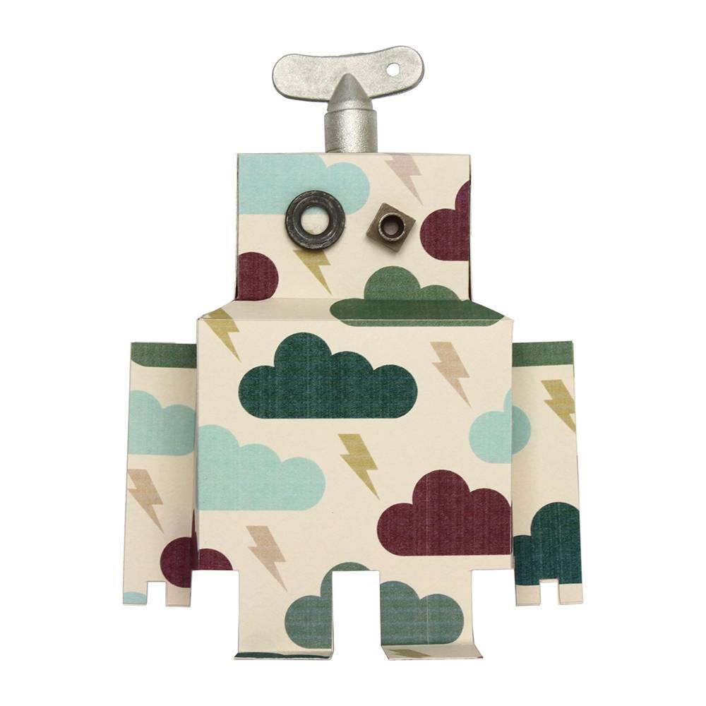 Studio Ditte Muursticker robot donderwolk