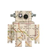 Studio Ditte Muursticker robot metrokaart