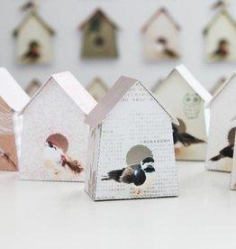 Studio Ditte Papieren vogelhuisjes