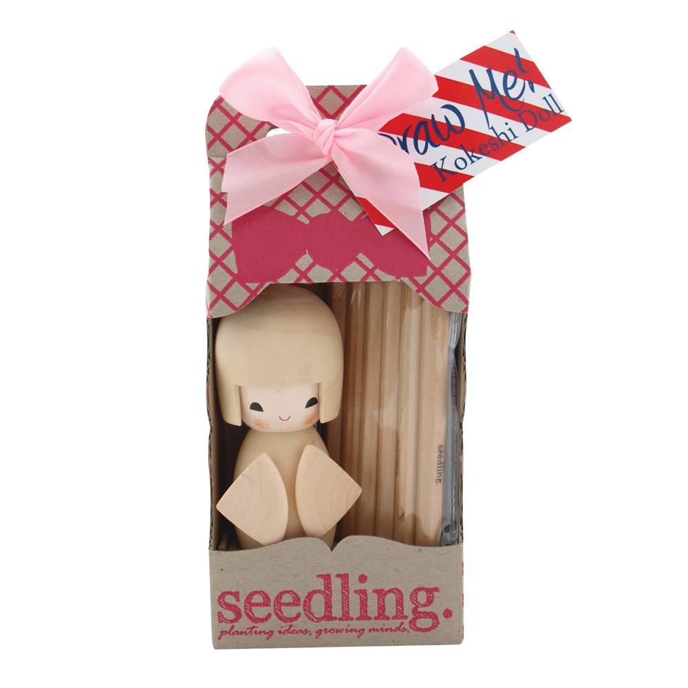 Seedling Teken me! Kokeshi poppetje