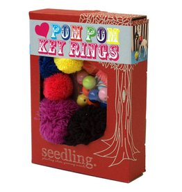 Seedling Love pompom sleutelhanger