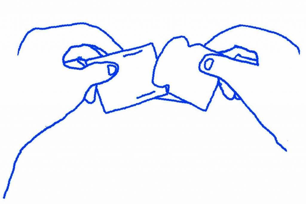 eeBoo Papieren slinger - hartjes