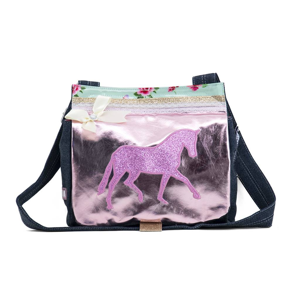 Zebra Trends Canvas tas jeans Pink Horse