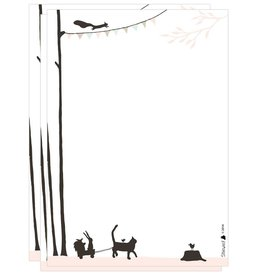 Stokwolf Postpapier 'dieren'