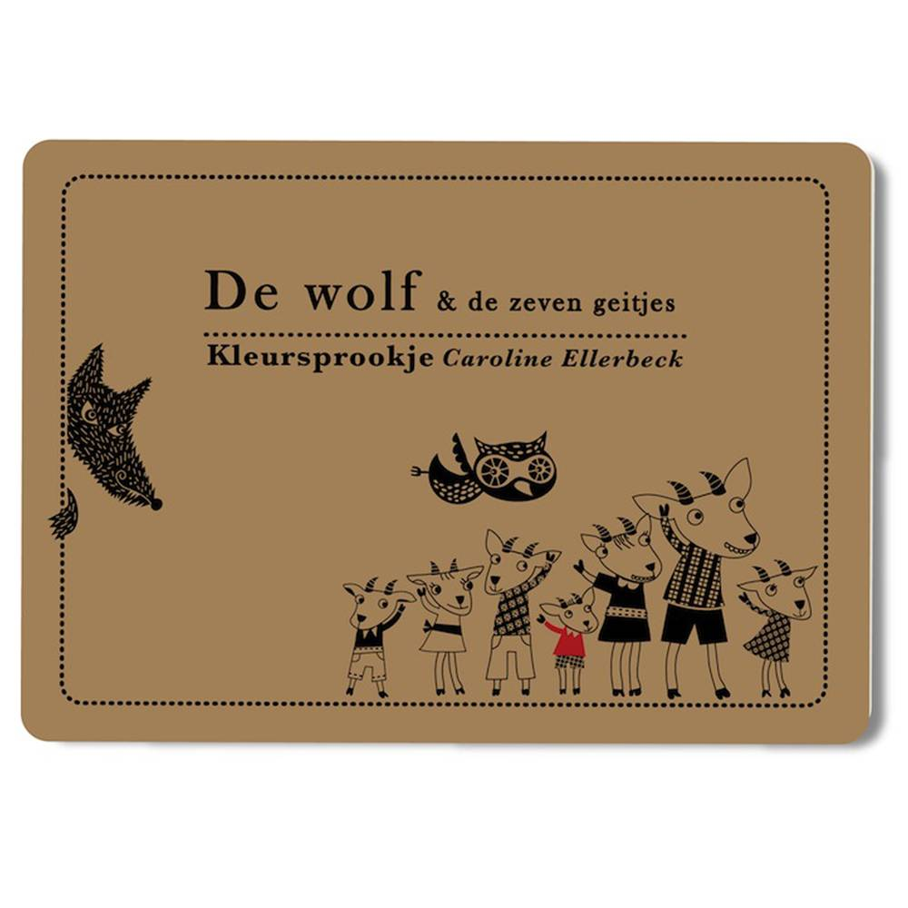 Caroline Ellerbeck Kleursprookje De wolf & de 7 geitjes
