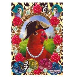 De Kunstboer Wenskaart Parrot