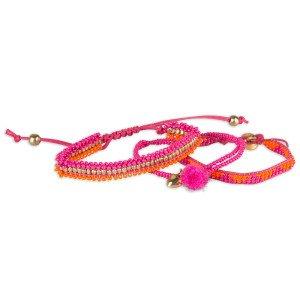 Colorique Handgemaakte armbandjes Ibiza fuchsia
