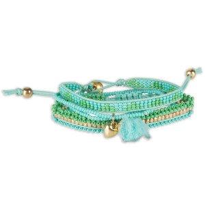 Colorique Handgemaakte armbandjes Ibiza jade/groen