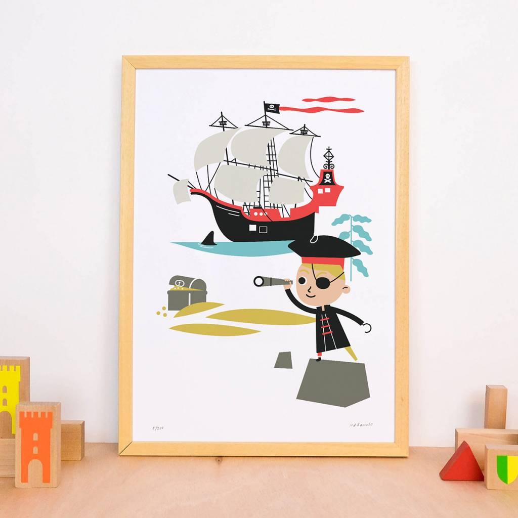 Makii Art Print Piraat