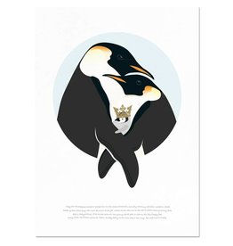 norsuStories Poster Pinguïn & verhaaltje 50 x 70 cm