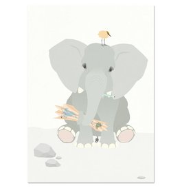 norsuStories Poster Olifant 50 x 70 cm