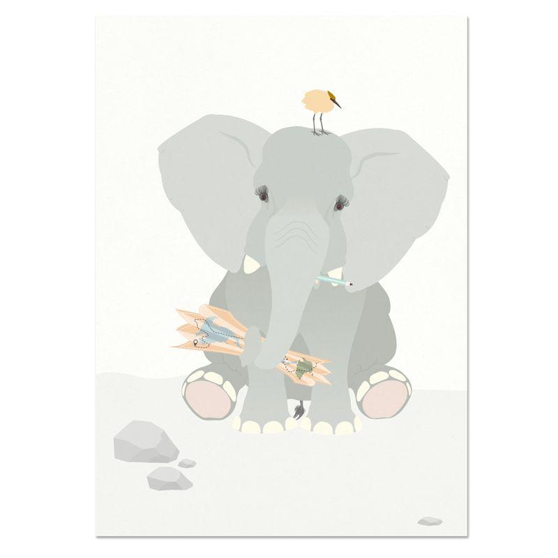 norsuStories Poster Olifant 50 x 70 cm