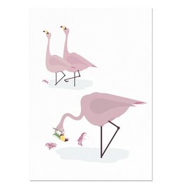 norsuStories Poster Flamingo A4