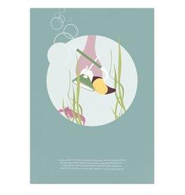 norsuStories Poster Flamingo & verhaaltje A4