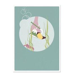 norsuStories Kaart Flamingo - groen