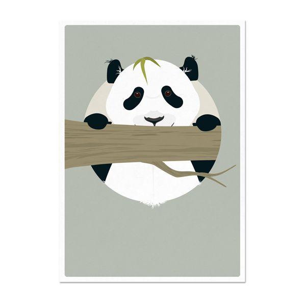 norsuStories Kaart Panda - grijs