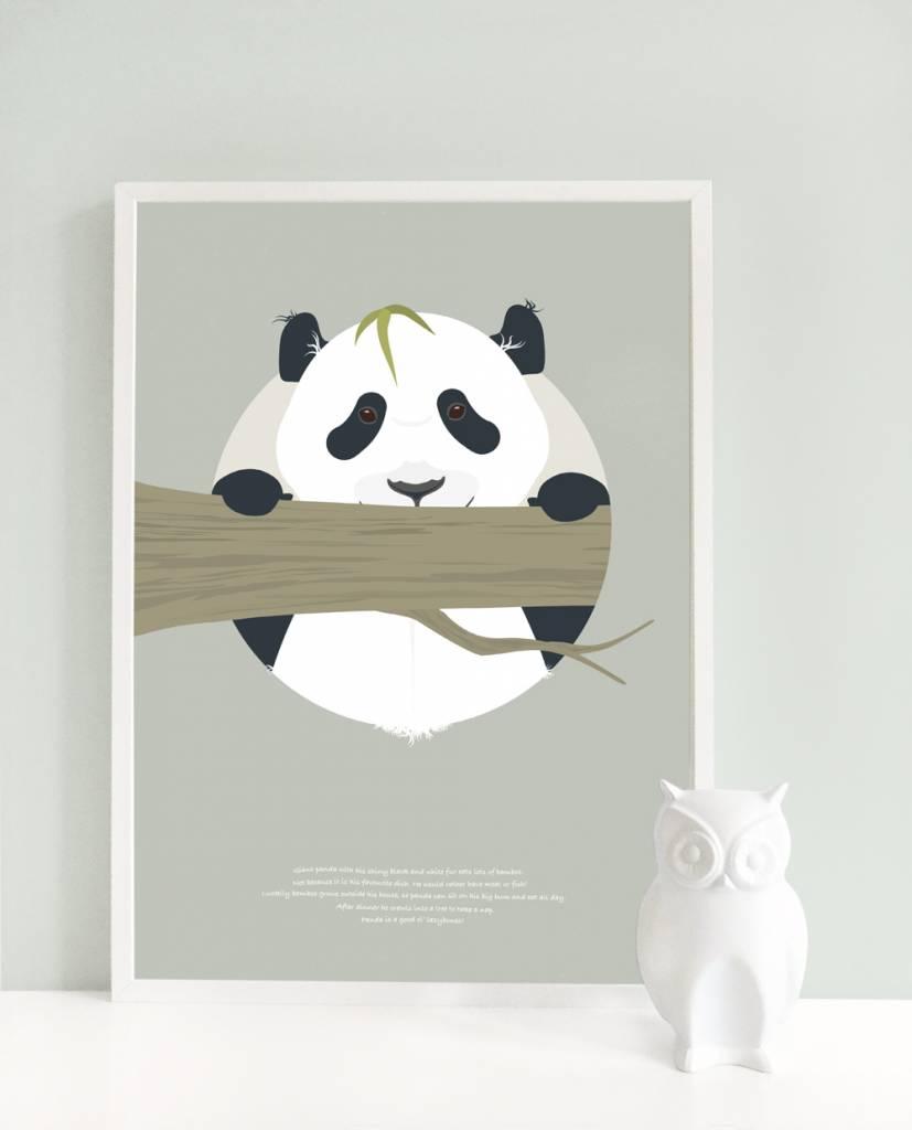 norsuStories Poster Panda & verhaaltje 50 x 70 cm