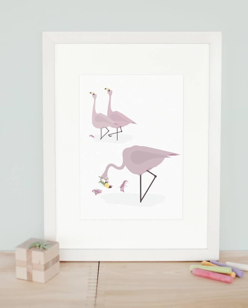 norsuStories Poster Flamingo A4