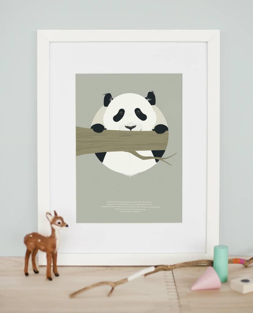 norsuStories Poster Panda & verhaaltje A4