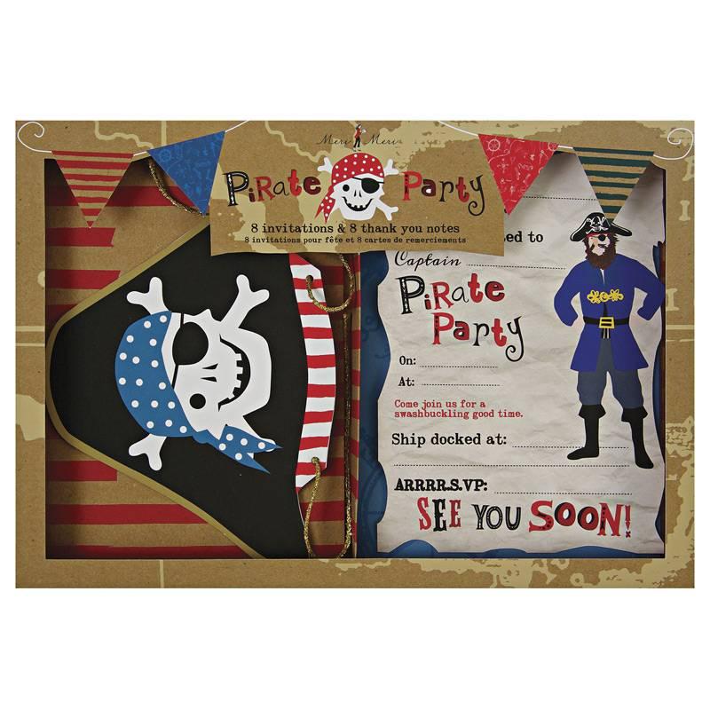 Meri Meri Piraten uitnodigingen