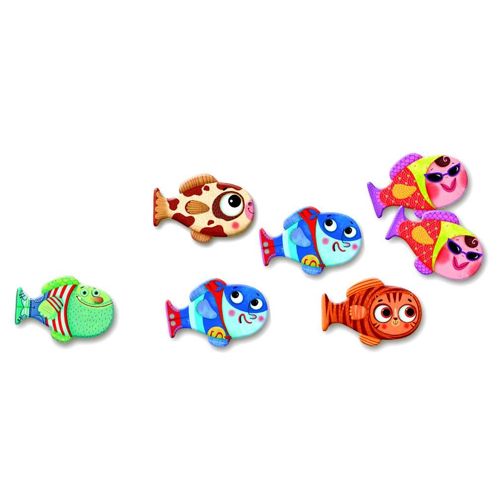 Djeco Memory vrolijk vissenspel