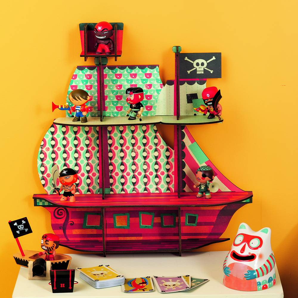 Djeco - Little BIG Room Wandkastje piratenschip