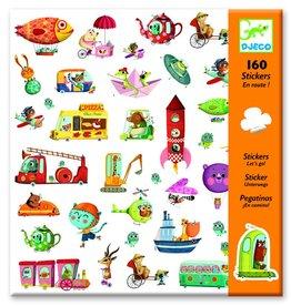 Djeco Stickers voertuigen