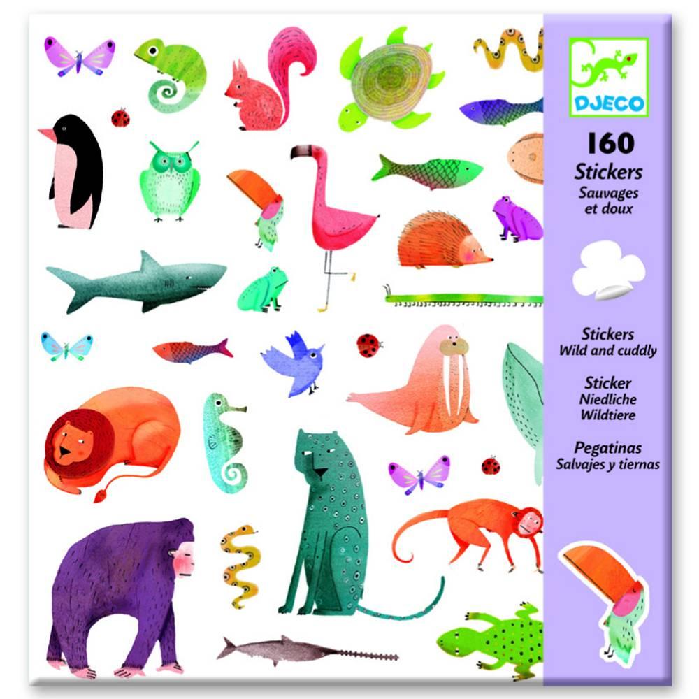 Djeco Stickers wilde dieren