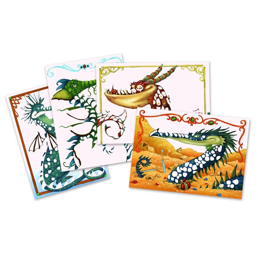 Djeco Kleuren met folie - draken