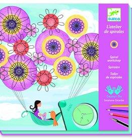 Djeco Tekenen met spiralen - meisje in de lucht
