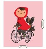 KEK Amsterdam Behang Fiep Westendorp Meisje op fiets - roze