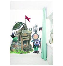 KEK Amsterdam Behang Kleine ridder met hut