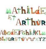 Djeco - Little BIG Room Muurstickers alfabet piraat