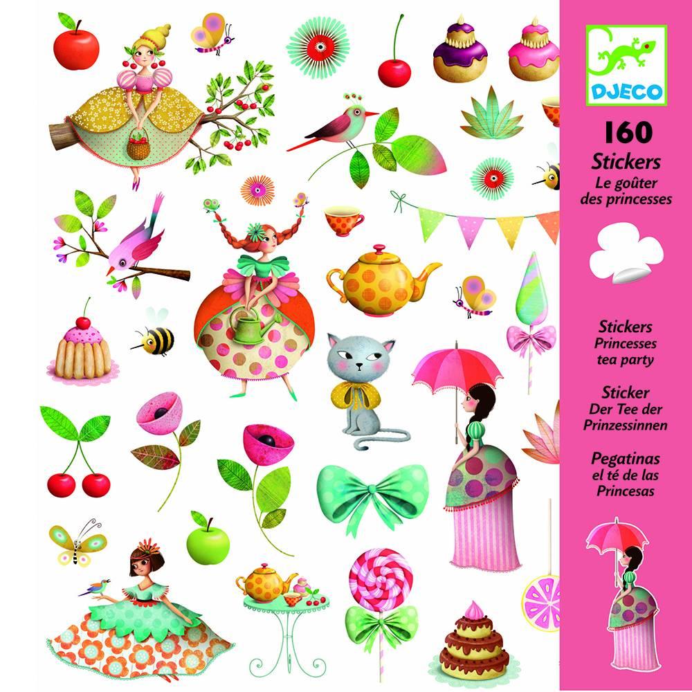 Djeco Stickers prinses high tea