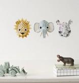 Studio Ditte Muursticker wilde dieren - Neushoorn
