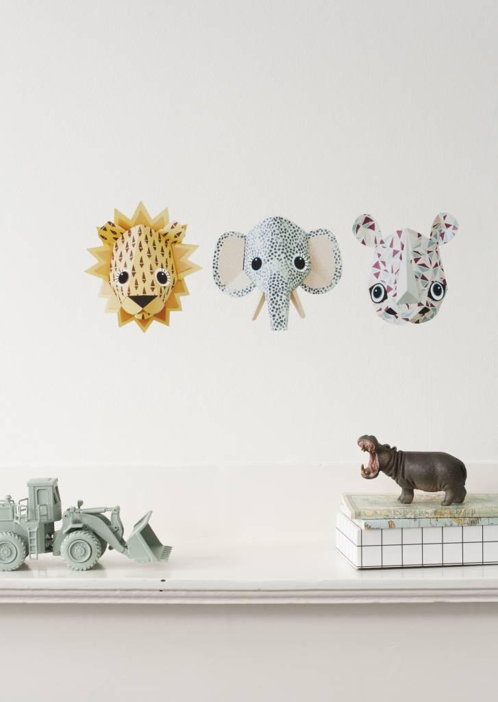 Studio Ditte Muursticker wilde dieren - Olifant