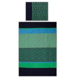 Colorique Chokhi Stamps dekbedovertrek groen/blauw