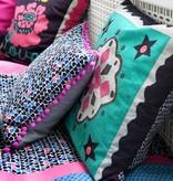 Colorique Chokhi Stamps kussenhoes hartjes pompons