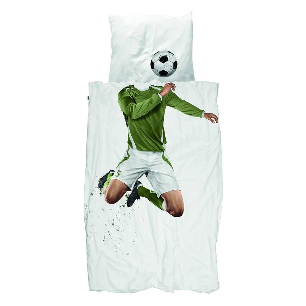 Snurk Voetbal dekbedovertrek - Soccer Champ Groen
