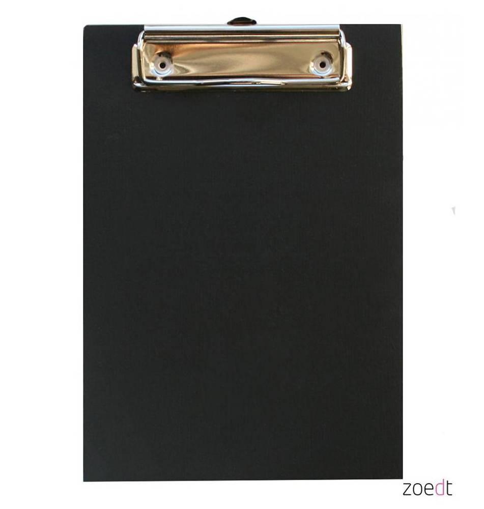 Zoedt Houten klembord zwart - A5