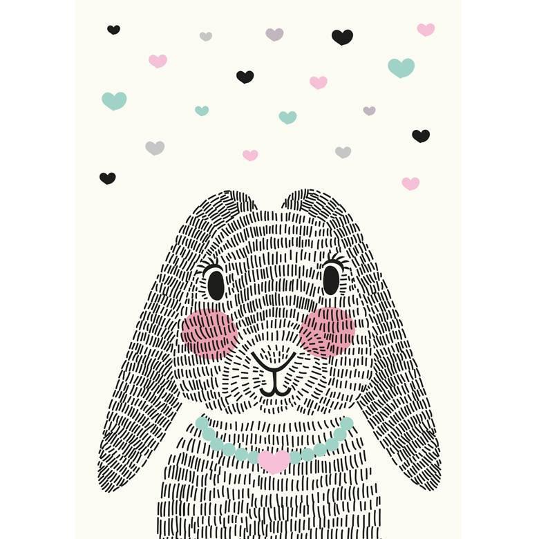 Sparkling Paper Kaart mrs Rabbit
